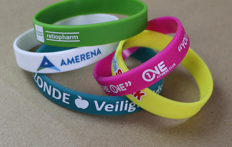 Silicone wristbands 12mm image