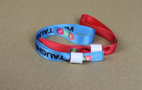 Woven festival wristbands 5/8 inch wide image