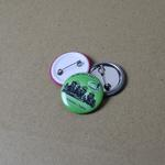 Metal button badge 30mm with custom print image