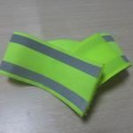 Elastic reflective safety ankle/arm band 5cm wide printed with logo image